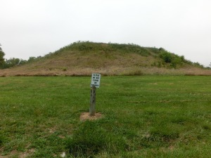 Please do not climb on mounds